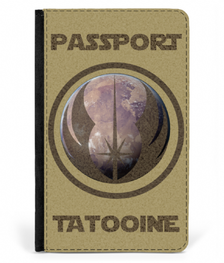 Tatooine Faux Leather Passport Cover Inspired By Star Wars